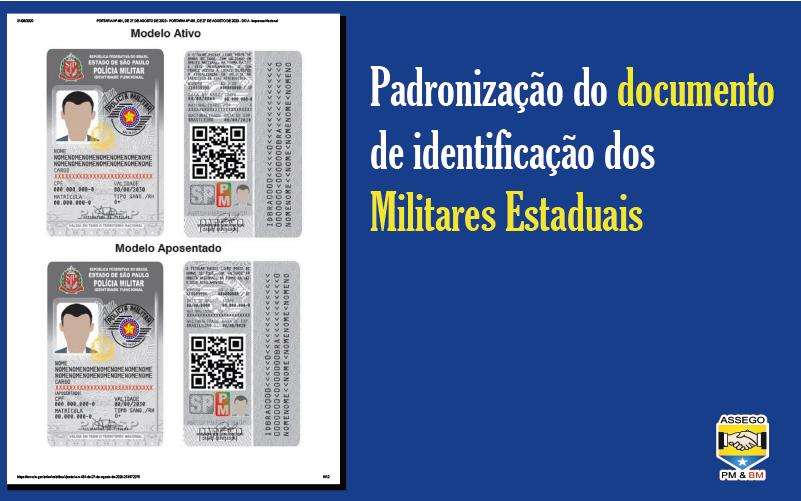Novo documento de identificação dos Policiais Militares Estaduais