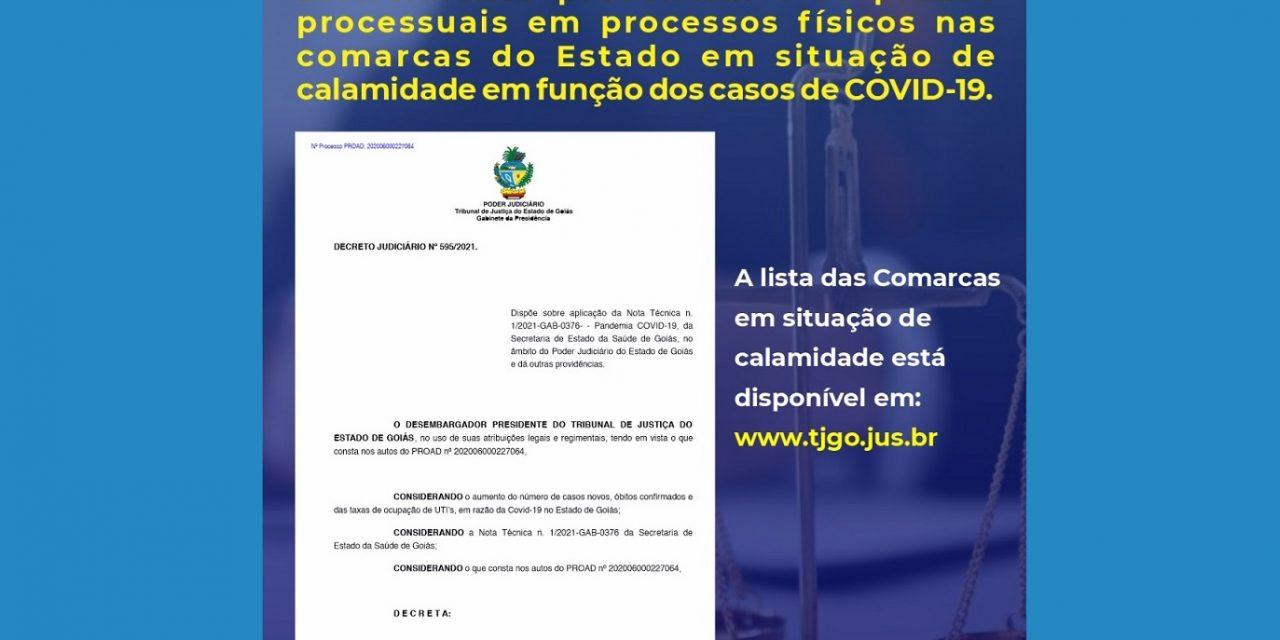 JUSTIÇA SUSPENDE ATENDIMENTO PRESENCIAL E PRAZOS DE PROCESSOS FÍSICOS EM CIDADES EM SITUAÇÃO DE CALAMIDADE