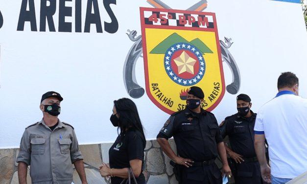 INÍCIO DA VACINAÇÃO DOS POLICIAIS MILITARES EM APARECIDA DE GOIÂNIA