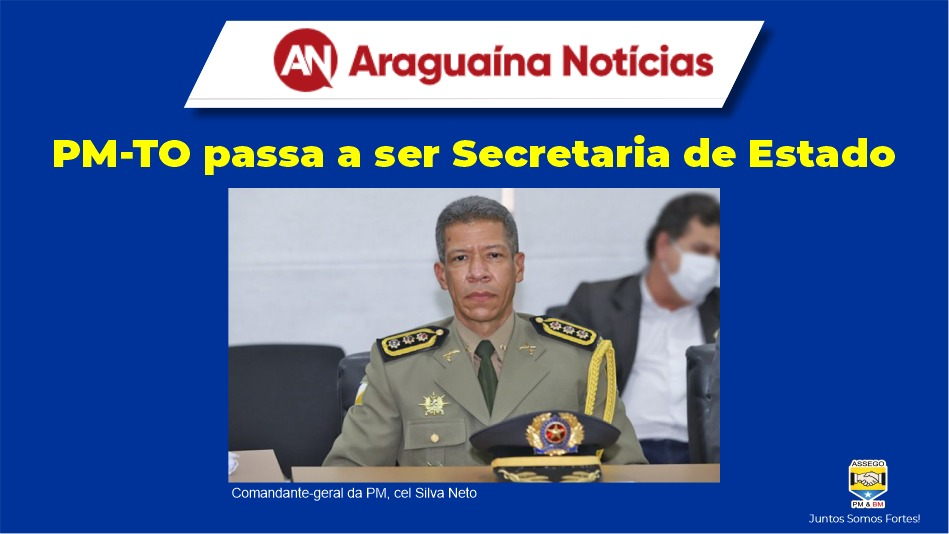 PM-TO PASSA A SER SECRETARIA DE ESTADO