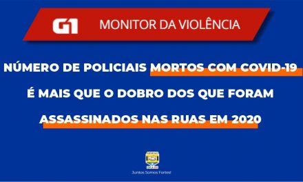 NÚMERO DE POLICIAIS MORTOS COM COVID-19 É MAIS QUE O DOBRO DOS QUE FORAM ASSASSINADOS NAS RUAS EM 2020