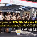 BOMBEIRO RECEBE HOMENAGEM AO DEIXAR HOSPITAL DEPOIS DE 47 DIAS INTERNADO EM TRATAMENTO CONTRA A COVID-19