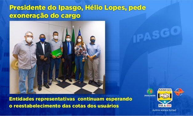 Presidente do Ipasgo, Hélio Lopes, pede exoneração do cargo