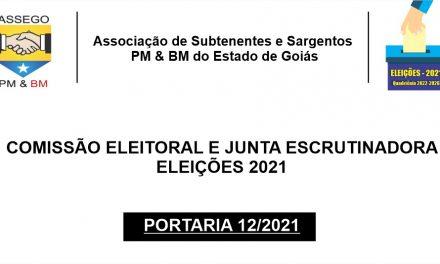 COMISSÃO ELEITORAL E JUNTA ESCRUTINADORA – ELEIÇÕES 2021