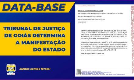 TRIBUNAL DE JUSTIÇA DE GOIÁS DETERMINA A MANIFESTAÇÃO DO ESTADO